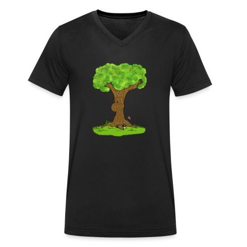 Einfach Baumbert ! - Männer Bio-T-Shirt mit V-Ausschnitt von Stanley & Stella