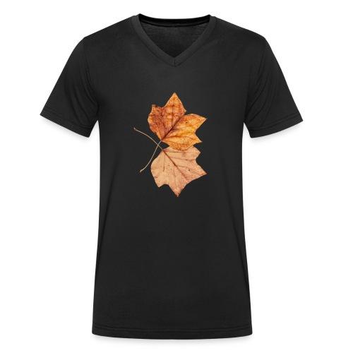 Blätter - Männer Bio-T-Shirt mit V-Ausschnitt von Stanley & Stella