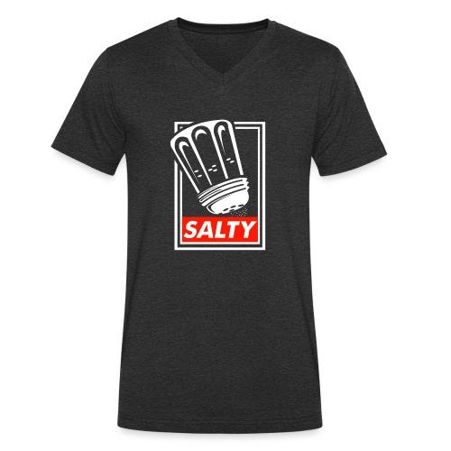 Salty white - Men's Organic V-Neck T-Shirt by Stanley & Stella