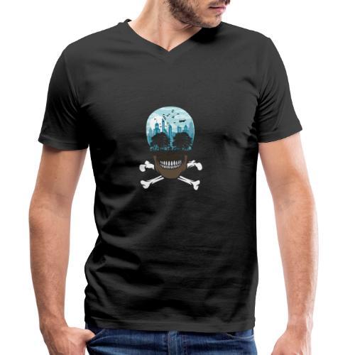 Death City tshirt ✅ - Männer Bio-T-Shirt mit V-Ausschnitt von Stanley & Stella