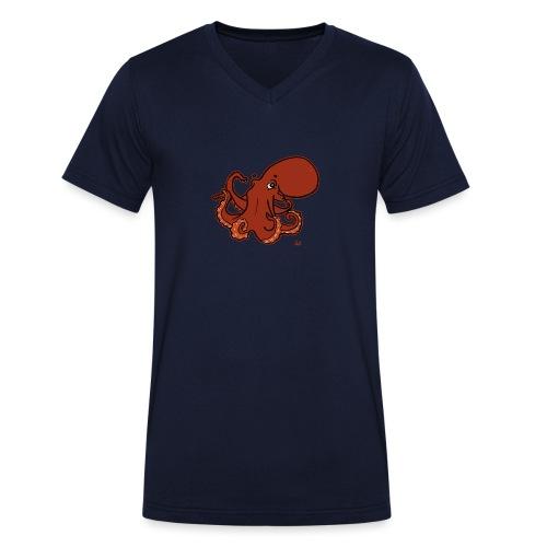 Giant Pacific Octopus (black edition) - Økologisk T-skjorte med V-hals for menn fra Stanley & Stella