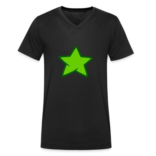 Estrella verde - Camiseta ecológica hombre con cuello de pico de Stanley & Stella