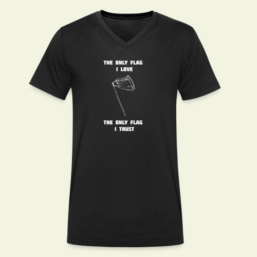 OnlyFlagILove2 - Ekologisk T-shirt med V-ringning herr från Stanley & Stella