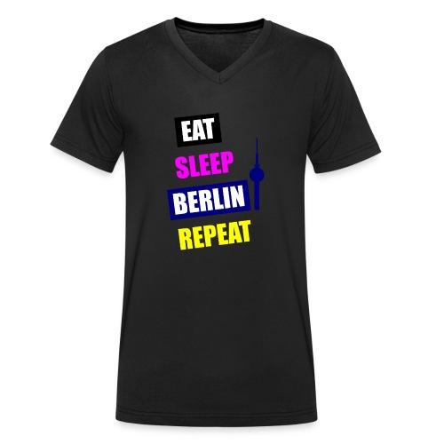 EAT SLEEP BERLIN SPECIAL - Männer Bio-T-Shirt mit V-Ausschnitt von Stanley & Stella