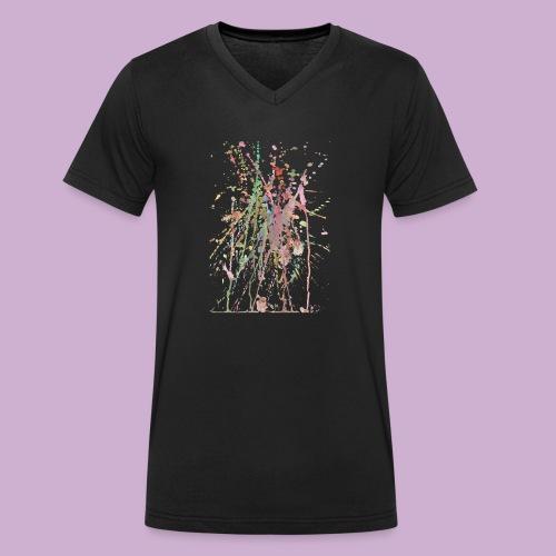 AQUARELLSPRITZER - Männer Bio-T-Shirt mit V-Ausschnitt von Stanley & Stella