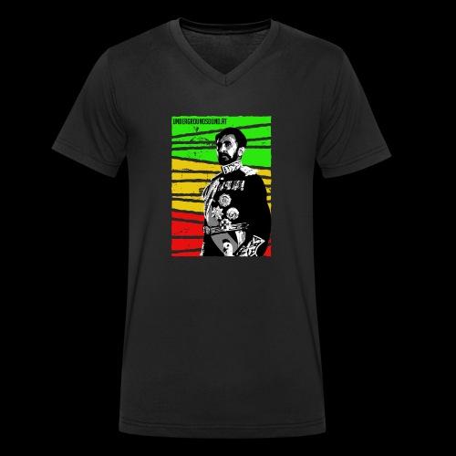 EMPORER SELASSIE I - Männer Bio-T-Shirt mit V-Ausschnitt von Stanley & Stella