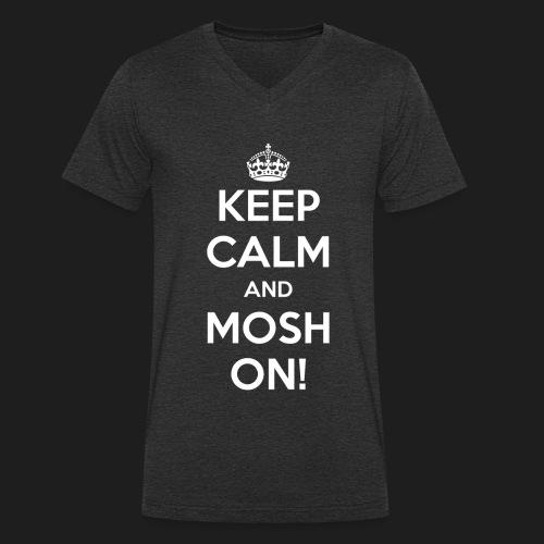 KEEP CALM AND MOSH ON! - T-shirt ecologica da uomo con scollo a V di Stanley & Stella