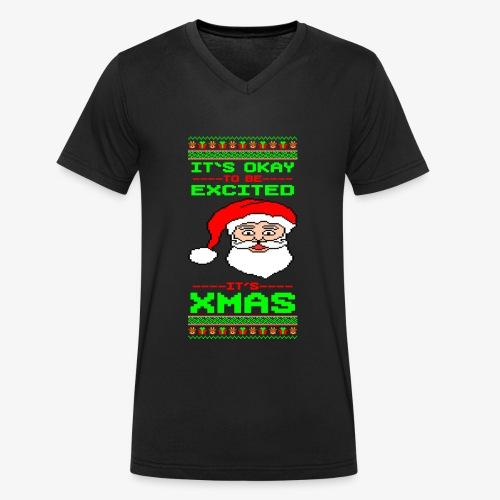 Its Xmas Time Ugly - Männer Bio-T-Shirt mit V-Ausschnitt von Stanley & Stella
