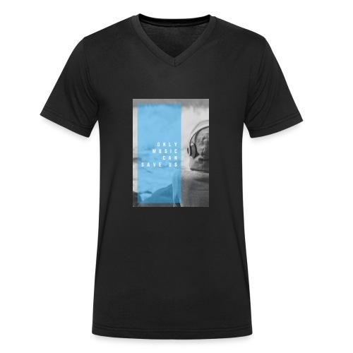 Only Music - Mannen bio T-shirt met V-hals van Stanley & Stella