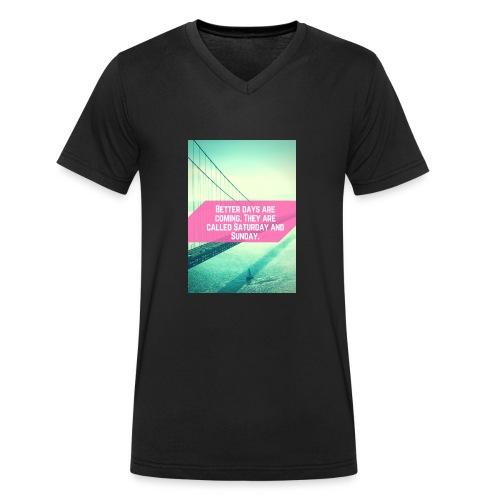 Better Days - Mannen bio T-shirt met V-hals van Stanley & Stella