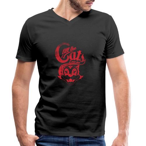 All the cats love me - Männer Bio-T-Shirt mit V-Ausschnitt von Stanley & Stella