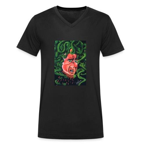 MedusaMay - T-shirt ecologica da uomo con scollo a V di Stanley & Stella