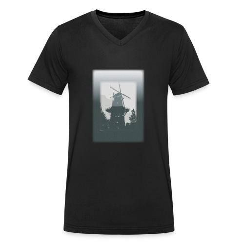 Mills grey - Men's Organic V-Neck T-Shirt by Stanley & Stella
