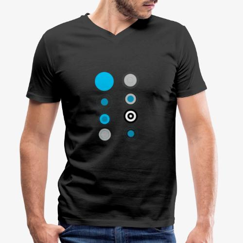 Cerchi - T-shirt ecologica da uomo con scollo a V di Stanley & Stella