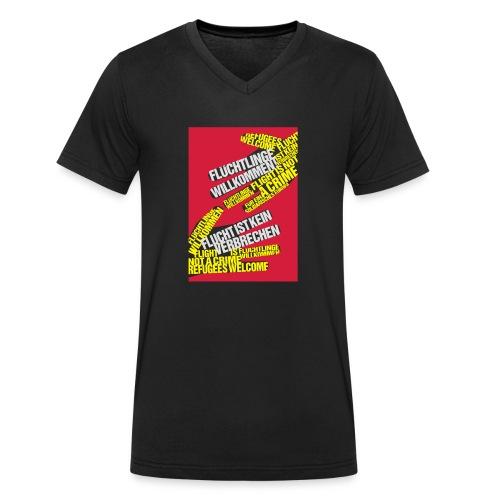 Flüchtlinge Willkommen r - Männer Bio-T-Shirt mit V-Ausschnitt von Stanley & Stella