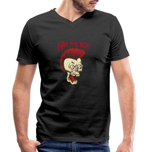 Eat The Rich (For Dark Shirts) - Männer Bio-T-Shirt mit V-Ausschnitt von Stanley & Stella