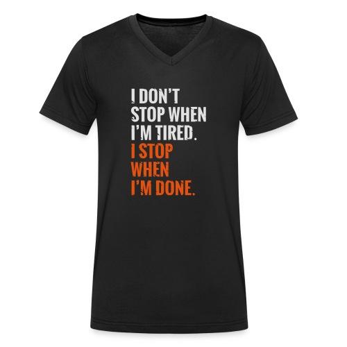 I Dont Stop - Männer Bio-T-Shirt mit V-Ausschnitt von Stanley & Stella