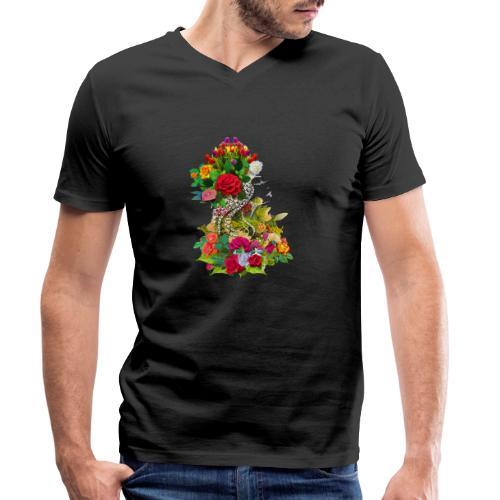 Lady flower - T-shirt bio col V Stanley & Stella Homme