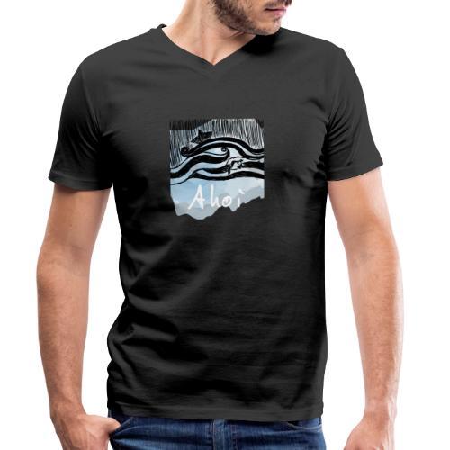 WELLEN SCHIFF FISCH - Männer Bio-T-Shirt mit V-Ausschnitt von Stanley & Stella
