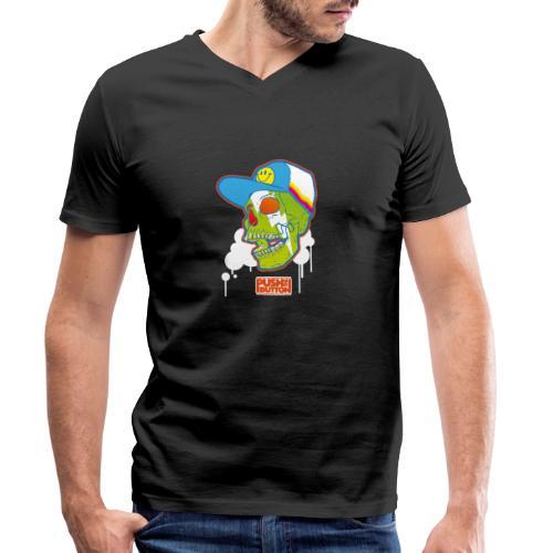 Ptb Skullhead 2 - Men's Organic V-Neck T-Shirt by Stanley & Stella