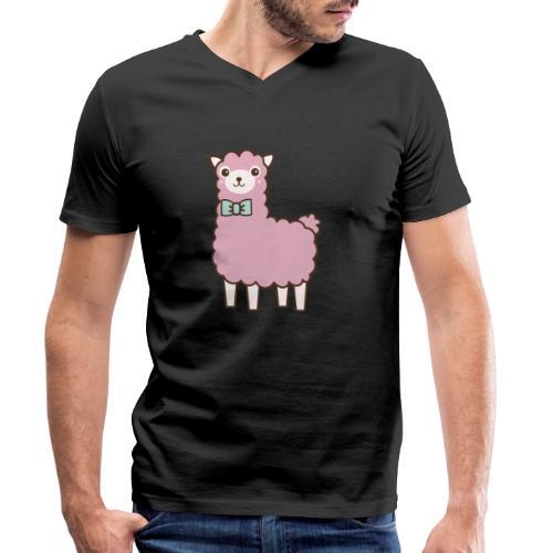 fluffy Lama - Männer Bio-T-Shirt mit V-Ausschnitt von Stanley & Stella