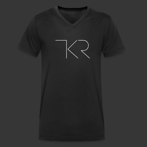 TKR Logo Black - Men's Organic V-Neck T-Shirt by Stanley & Stella