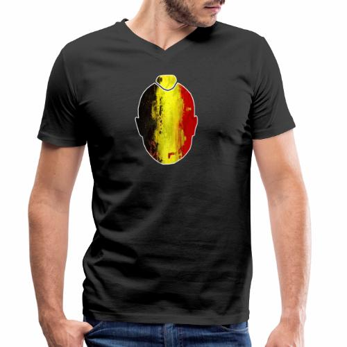 Ninja #ALLFORRADJA - Mannen bio T-shirt met V-hals van Stanley & Stella