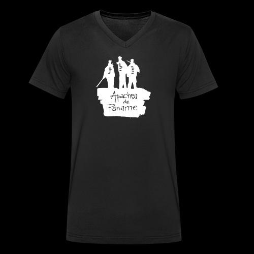 logo apache blanc - T-shirt bio col V Stanley & Stella Homme