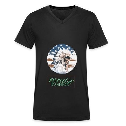 Motiv3 Häuptling2 png - Männer Bio-T-Shirt mit V-Ausschnitt von Stanley & Stella