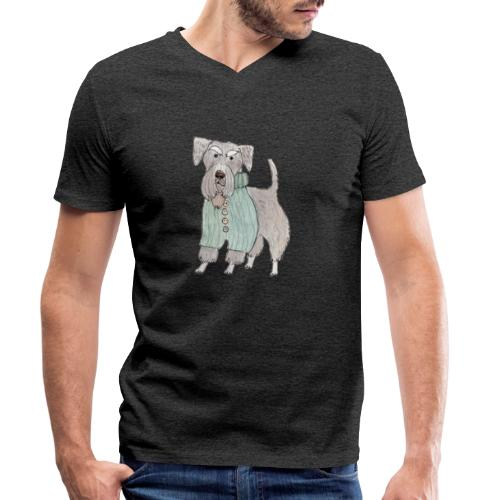 schnauzer with sweater - Økologisk Stanley & Stella T-shirt med V-udskæring til herrer