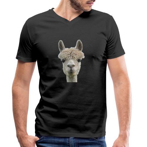 Alpaka Lama Kamel Peru Anden Südamerika Wolle - Männer Bio-T-Shirt mit V-Ausschnitt von Stanley & Stella