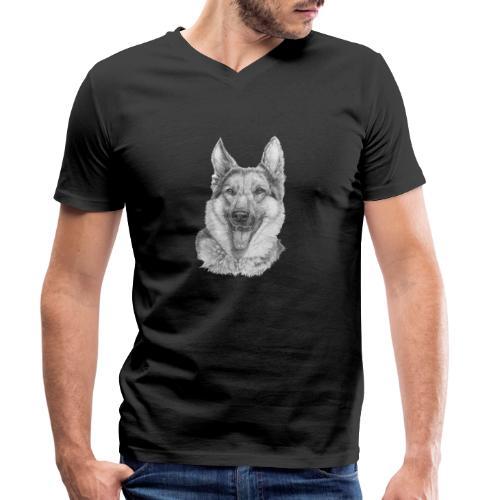 Schæfer German shepherd - Økologisk Stanley & Stella T-shirt med V-udskæring til herrer