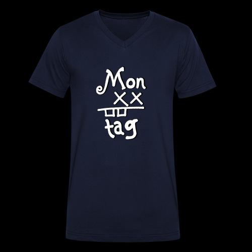Montag x_x - Männer Bio-T-Shirt mit V-Ausschnitt von Stanley & Stella
