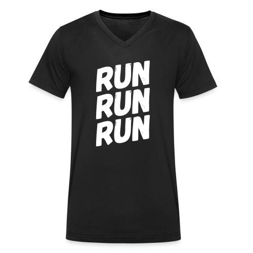 run run run - Männer Bio-T-Shirt mit V-Ausschnitt von Stanley & Stella