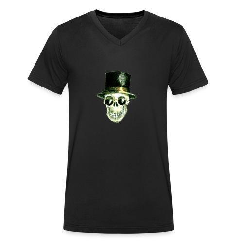Schädel Hatter - Männer Bio-T-Shirt mit V-Ausschnitt von Stanley & Stella