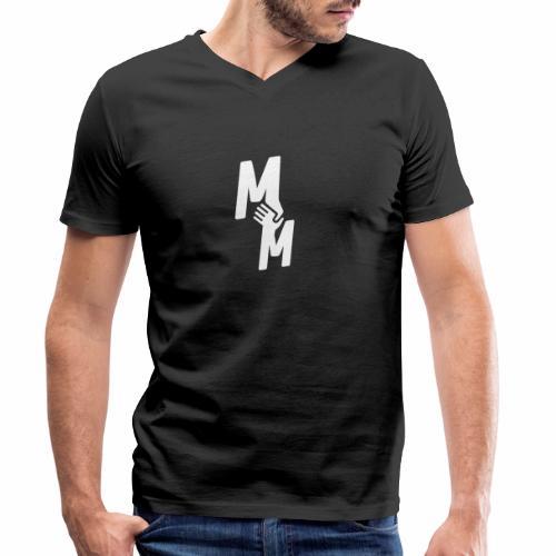 MM white - Männer Bio-T-Shirt mit V-Ausschnitt von Stanley & Stella