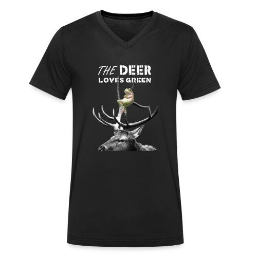 deer - Mannen bio T-shirt met V-hals van Stanley & Stella