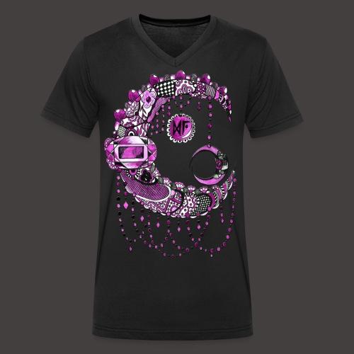 Lune dentelle Rose - T-shirt bio col V Stanley & Stella Homme