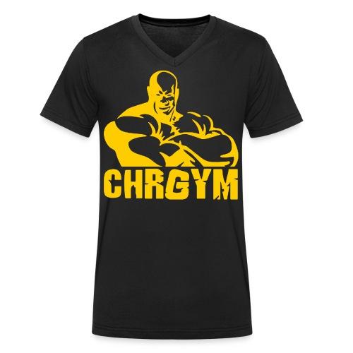 CHRGYM AMARILLO - Camiseta ecológica hombre con cuello de pico de Stanley & Stella