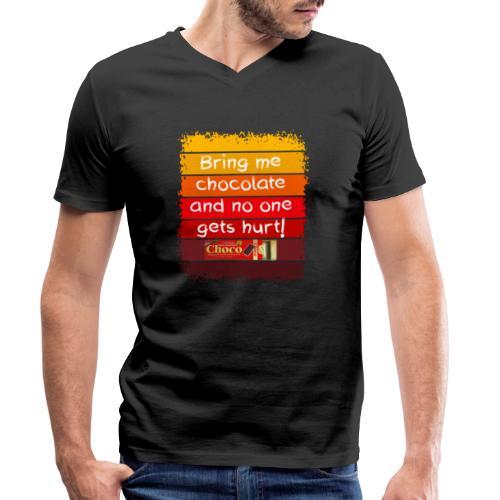 Bring me chocolate - Mannen bio T-shirt met V-hals van Stanley & Stella