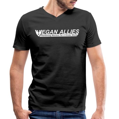 Vegan Allies - Men's Organic V-Neck T-Shirt by Stanley & Stella
