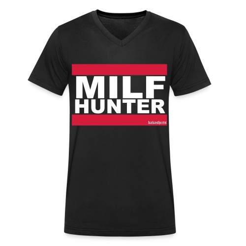 milf hunter - Männer Bio-T-Shirt mit V-Ausschnitt von Stanley & Stella
