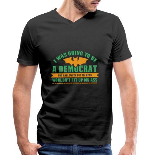 Ich wollte ein Demokrat zu Halloween sein - Männer Bio-T-Shirt mit V-Ausschnitt von Stanley & Stella