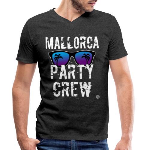 MALLORCA PARTY CREW Shirt - Damen Herren Frauen - Mannen bio T-shirt met V-hals van Stanley & Stella