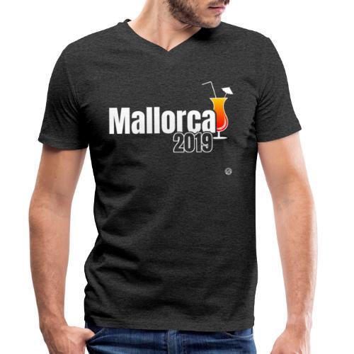 MALLE 2019 Cocktail Shirt - Mallorca Shirt - Mannen bio T-shirt met V-hals van Stanley & Stella