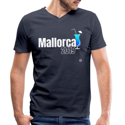 MALLORCA 2019 Cocktail Shirt - Malle Shirt - Mannen bio T-shirt met V-hals van Stanley & Stella
