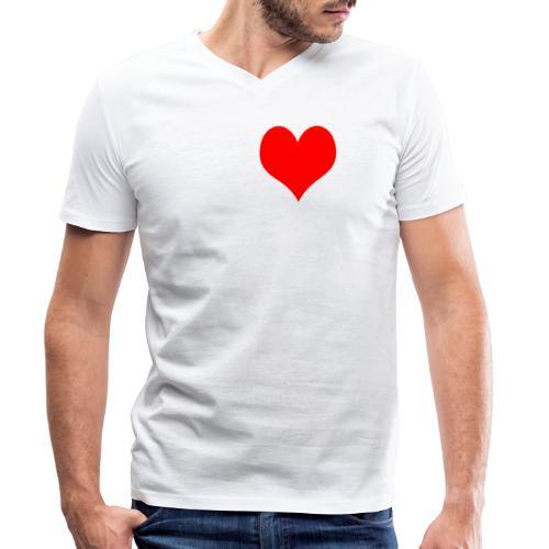 IK HOU VAN MALLE SHIRT Vrouwen Mannen Mannen - Mannen bio T-shirt met V-hals van Stanley & Stella