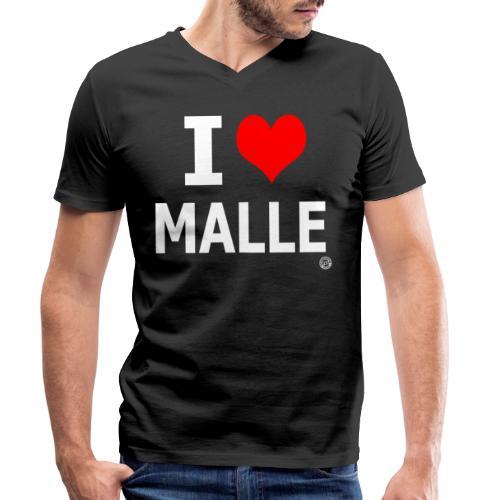 I LOVE MALLE SHIRT Damen Herren Frauen Männer - Mannen bio T-shirt met V-hals van Stanley & Stella