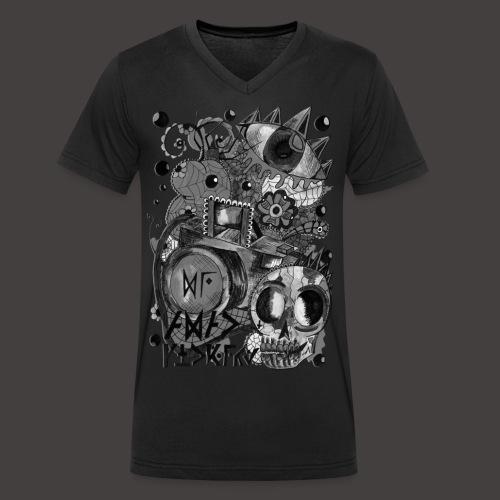 AGAC Picture Noir et Blanc - T-shirt bio col V Stanley & Stella Homme