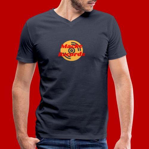 mackerecords merch - Ekologisk T-shirt med V-ringning herr från Stanley & Stella